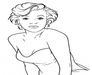 marilyn monroe celebrity 2 coloring pages