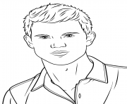 taylor lautner coloring pages