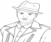 bruno mars celebrity coloring pages