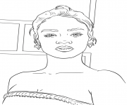 rihanna celebrity coloring pages