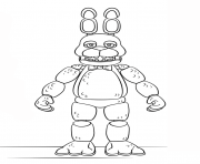 Printable fnaf toy bonnie generation 5 coloring pages