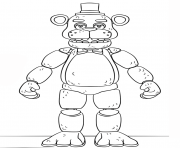 Printable fnaf toy golden freddy generation 5 coloring pages