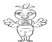 Printable chica fnaf coloring pages