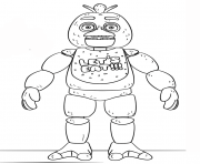 fnaf coloring pages chica - photo#12
