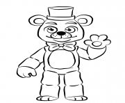 Printable golden freddy FNAF coloring pages