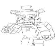 Printable minecraft freddy fnaf coloring pages