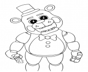 Printable cute five nights at freddys 2018 coloring pages