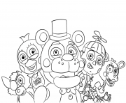 Printable five nights at freddys all characters coloring pages