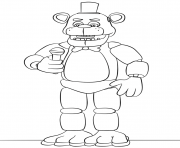 Printable freddy fnaf try to sing coloring pages