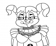 Printable baby from fnaf sister coloring pages