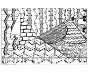 Printable adult zentangle by cathym 24 coloring pages