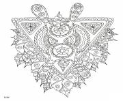 Printable mythical creature with tribal pattern adults coloring pages