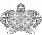 Printable turtle zentangle adults coloring pages