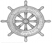 Printable marine handwheel zentangle adults coloring pages