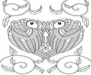 Printable animal adult heart coloring pages