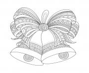 Printable adult christmas bells zentangle coloring pages