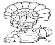 Printable adult thanksgiving turkey give thanks coloring pages