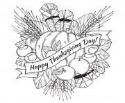 adult happy thanksgiving day coloring pages
