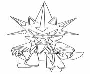 metal classic sonic coloring pages