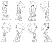 Printable sonic the hedgehog by darkhedgehog23 coloring pages