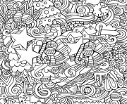 Printable christmas designs artists coloring pages