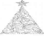 christmas adult tree coloring pages