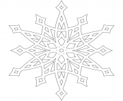 Printable Snowflake Patterns Mandala coloring pages