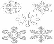 Printable easy snowflake for kids coloring pages