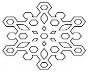 Printable Diamond Snowflakes coloring pages