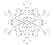 modern snowflake mandala adult coloring pages