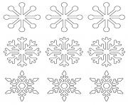 Printable snowflake templates large small stencil coloring pages