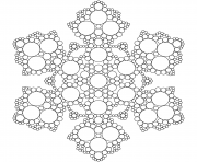 Printable snowflake mandala circles coloring pages