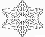 Printable Snowflake realistic winter coloring pages