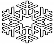 Printable Snowflakes simple star coloring pages