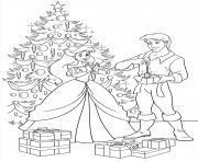 Printable disney princess christmas gifts coloring pages