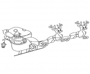 santa claus riding his sleigh christmas coloring pages
