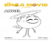 Angel Emoji Movie coloring pages