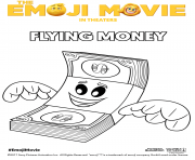 flying money emoji movie coloring pages