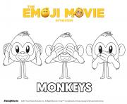 Printable Monkeys Emoji Movie coloring pages