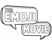 the emoji movie logo coloring pages