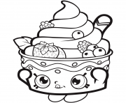 Printable Shopkins Icecream Strawberry coloring pages
