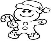 Gingerbread Man Christmas coloring pages