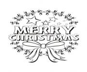 Printable merry christmas message coloring pages