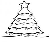 Printable Christmas Tree with a star coloring pages