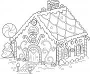 Printable Gingerbread House Christmas coloring pages