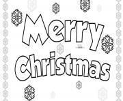 Merry Christmas Simple Easy coloring pages