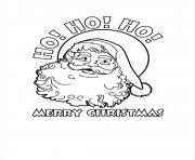 santa claus ho ho ho merry christmas coloring pages