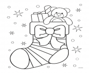 Printable xChristmas Stocking Cute coloring pages