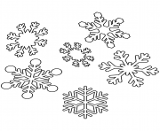 Printable snowflakes christmas coloring pages