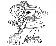 Printable Shopkins Girl in World Vacation Season 8 coloring pages